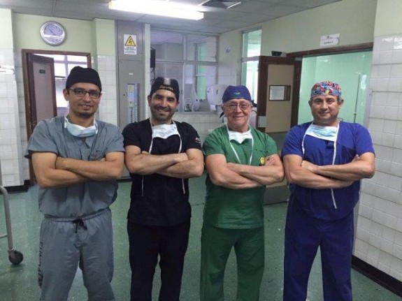 Dr. Salamea and fellow mission surgeons
