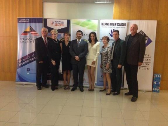Helping Kids in Ecuador Representatives and Dr. Salamea
